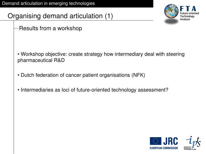 Demand articulation in emerging technologies