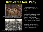 birth of the nazi party