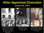 hitler appointed chancellor january 30 1933