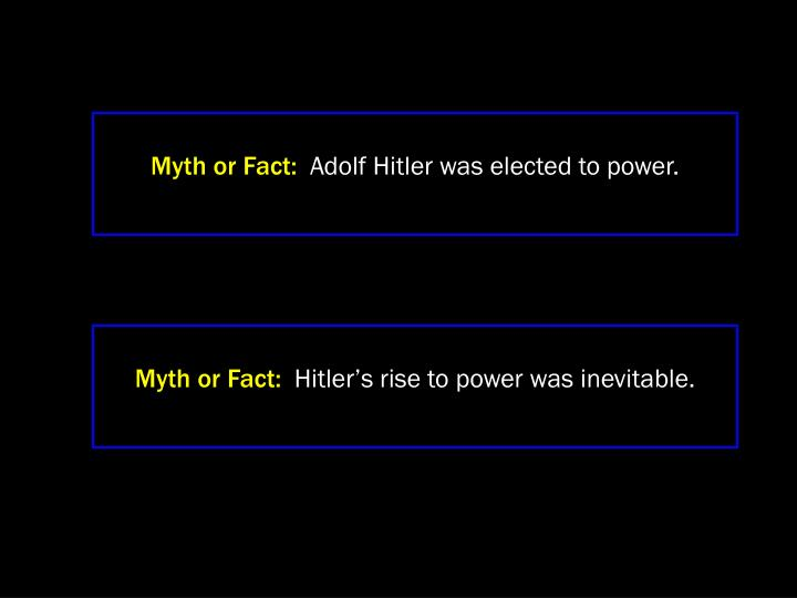Myth or Fact: