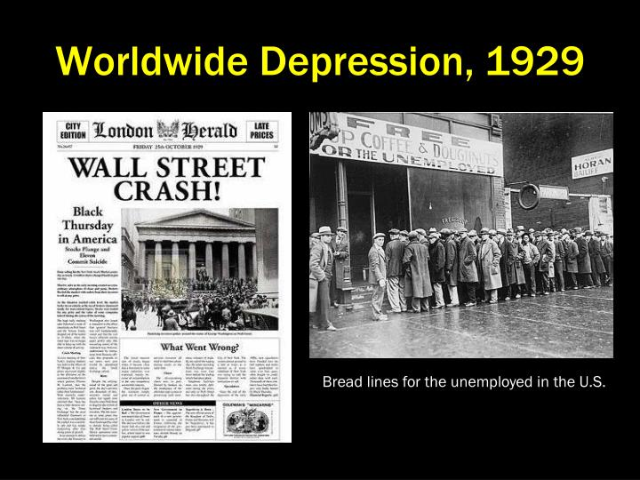 Worldwide Depression, 1929