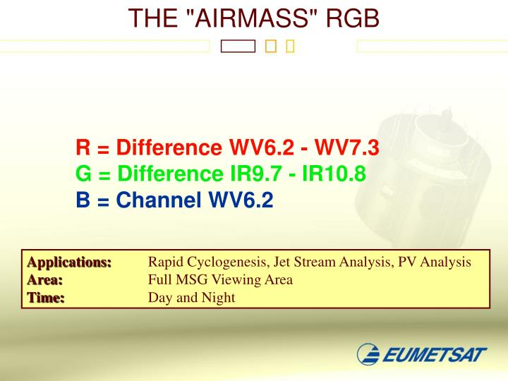 "THE ""AIRMASS"" RGB"