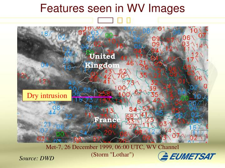 Features seen in WV Images