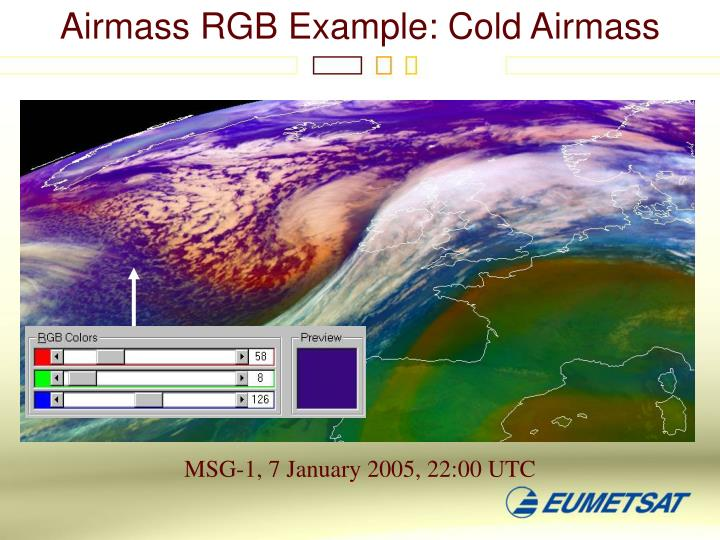 Airmass RGB Example: Cold Airmass