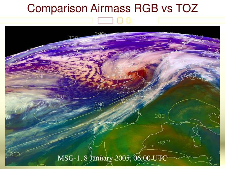 Comparison Airmass RGB vs TOZ