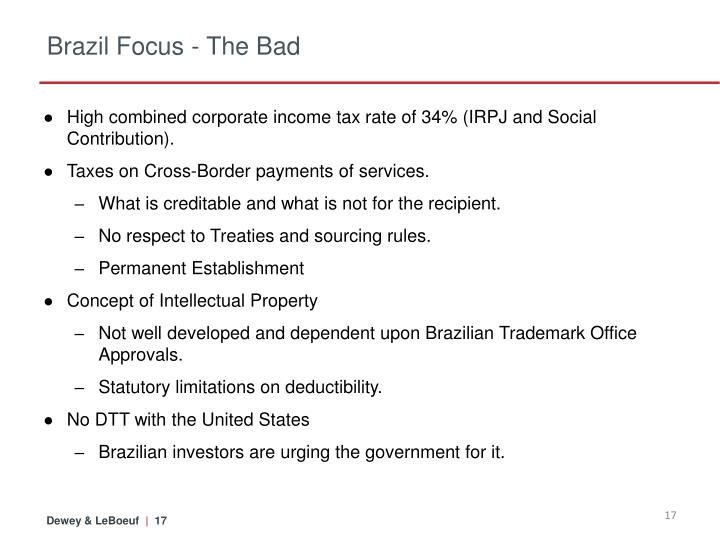 Brazil Focus - The Bad