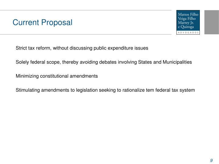 Current Proposal