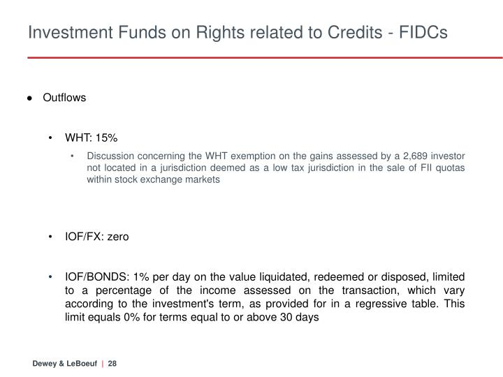 Investment Funds on Rights related to Credits - FIDCs