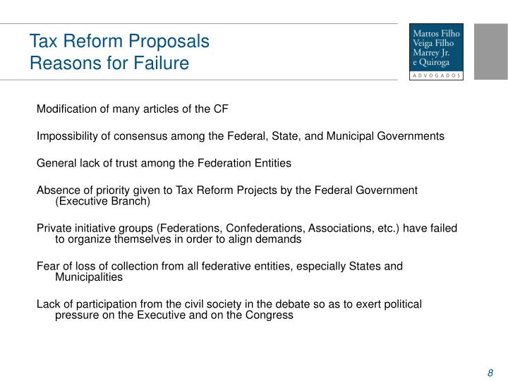 Tax Reform Proposals