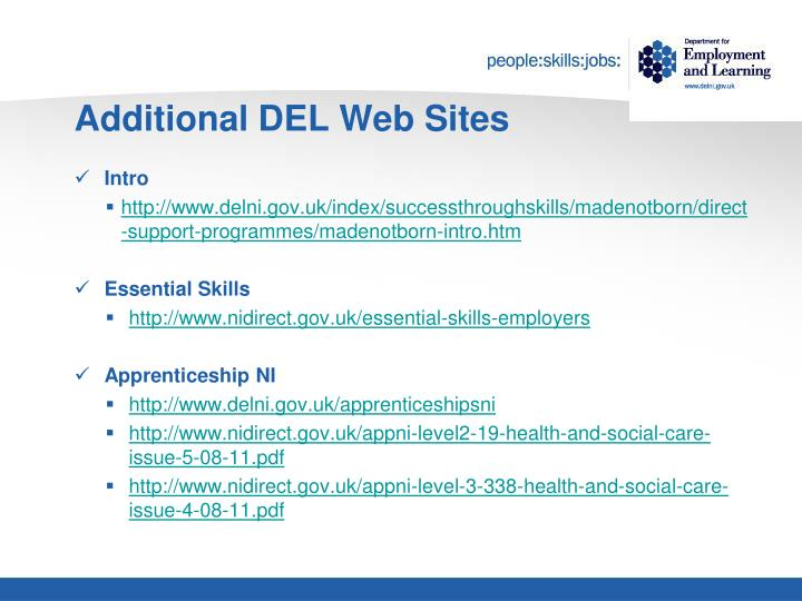 Additional DEL Web Sites