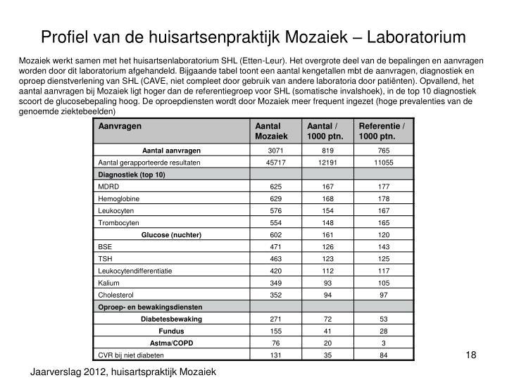 Profiel van de huisartsenpraktijk Mozaiek – Laboratorium