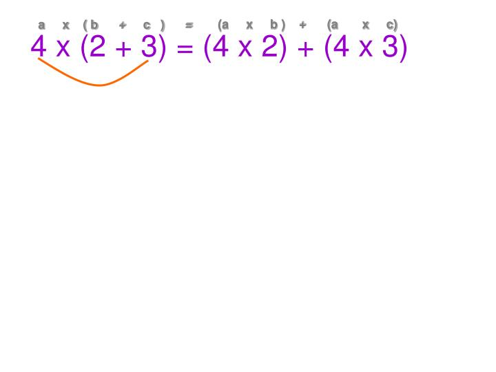 (a     x     b )    +      (a       x     c)