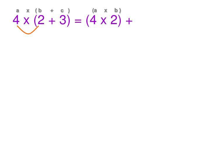 (a     x     b )