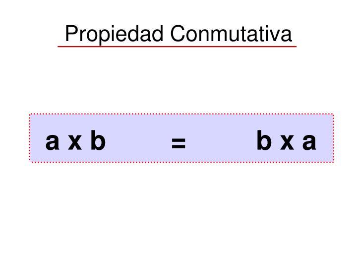 a x b