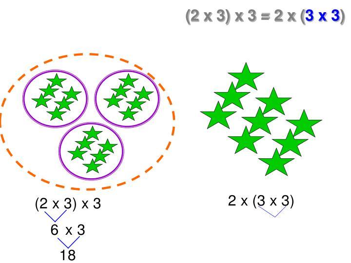 (2 x 3) x 3 = 2 x (