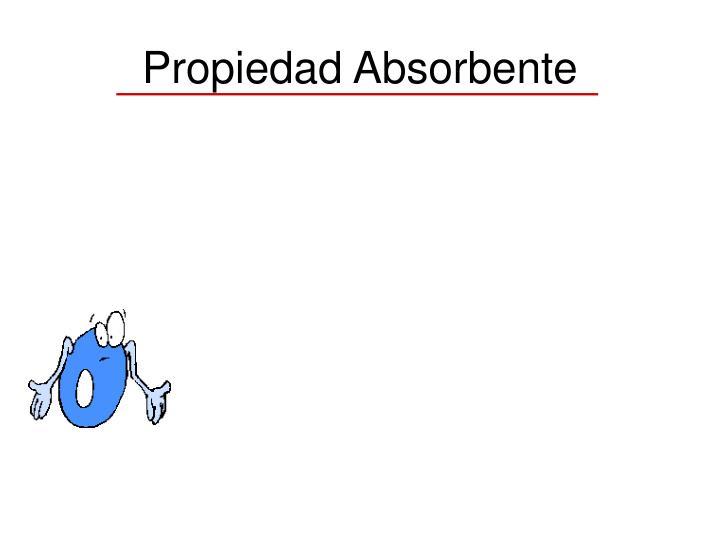 Propiedad Absorbente