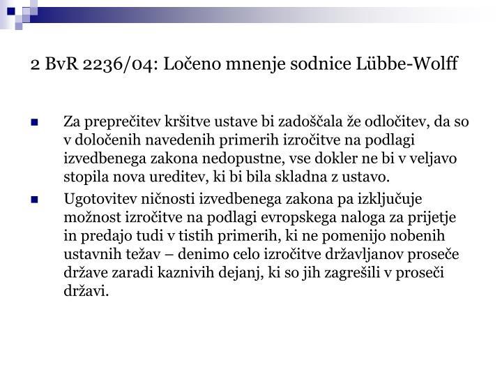 2 BvR 2236/04: Ločeno mnenje sodnice Lübbe-Wolff