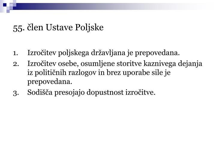 55. člen Ustave Poljske
