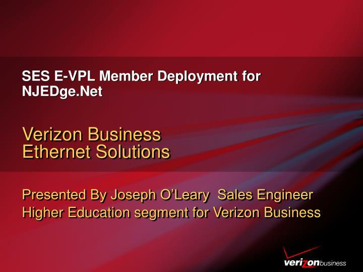 SES E-VPL Member Deployment for NJEDge.Net