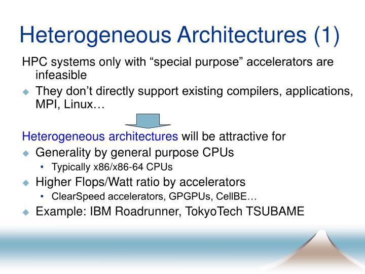 Heterogeneous Architectures (1)
