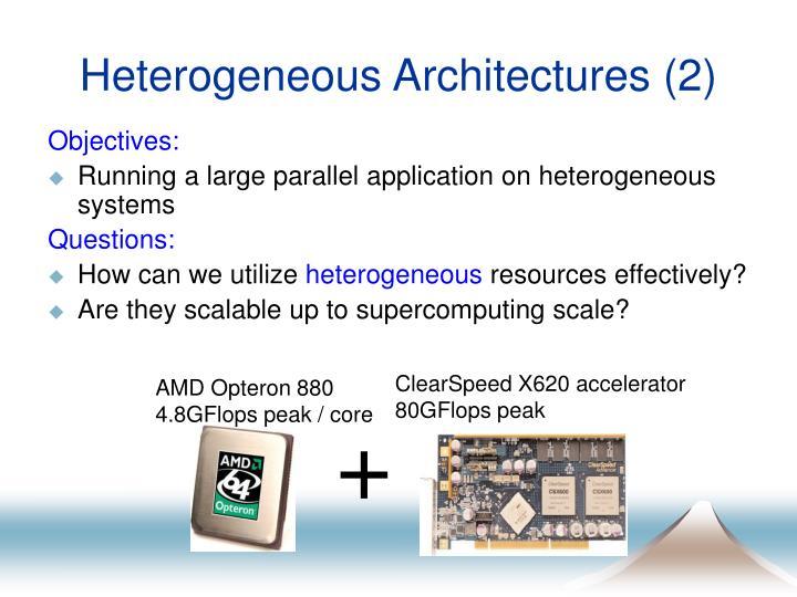 Heterogeneous Architectures (2)