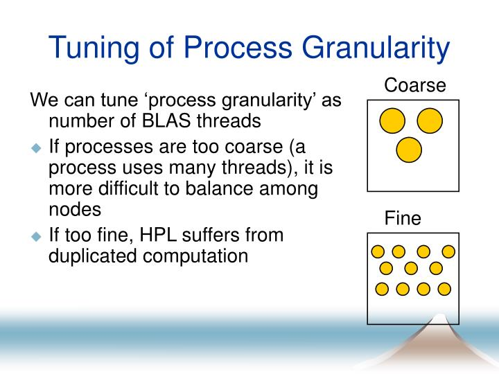 Tuning of Process Granularity