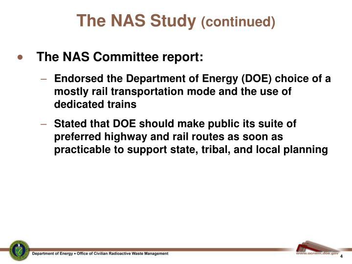 The NAS Study