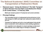 the national academies nas committee on transportation of radioactive waste
