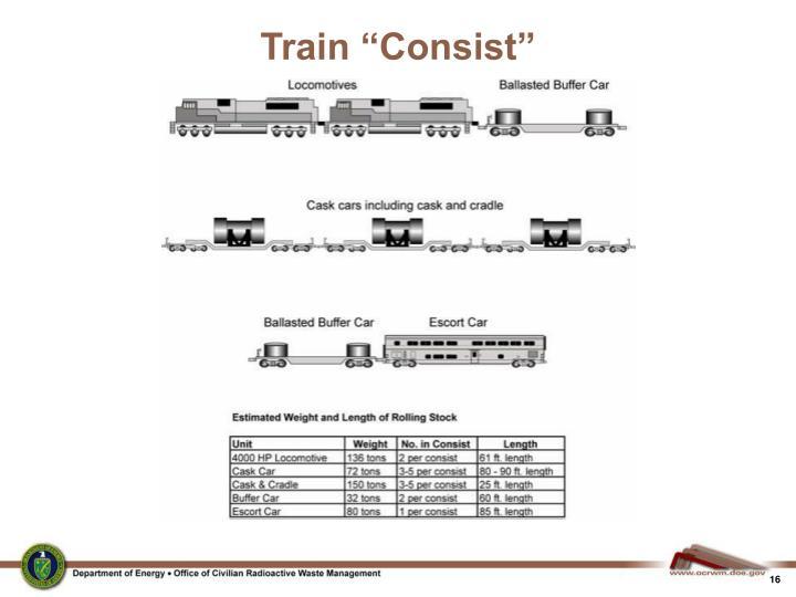 """Train """"Consist"""""""