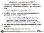 waste acceptance by doe
