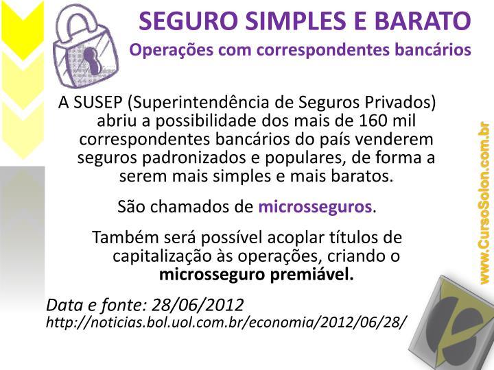 SEGURO SIMPLES E BARATO