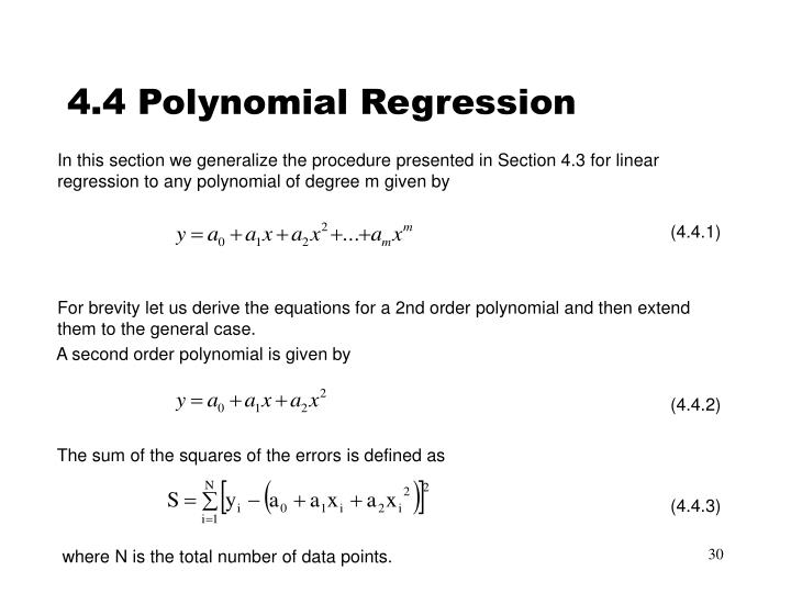 4.4 Polynomial Regression