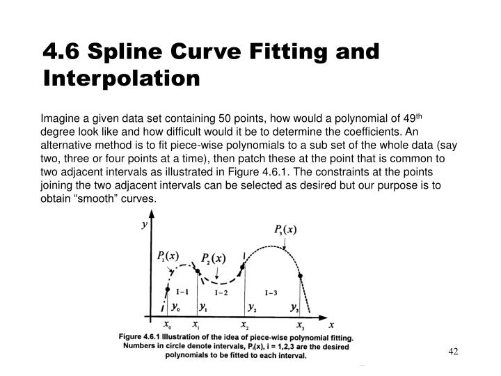 4.6 Spline Curve Fitting and Interpolation