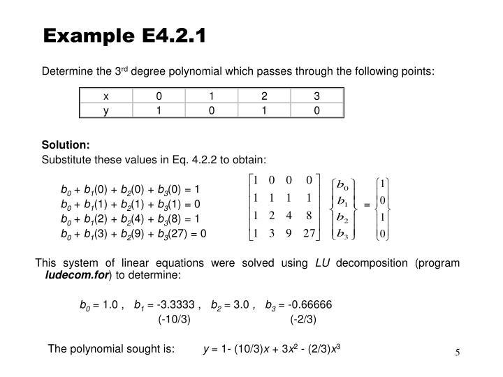 Example E4.2.1