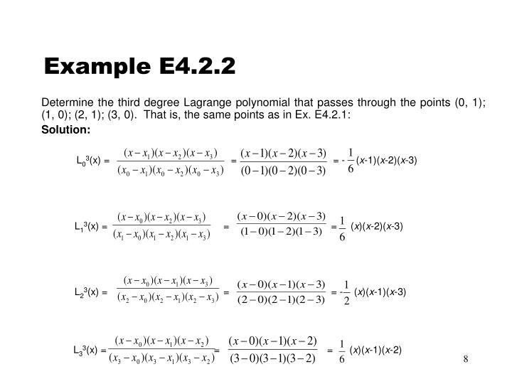 Example E4.2.2