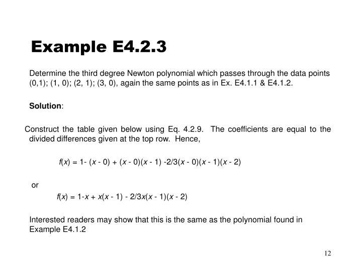 Example E4.2.3