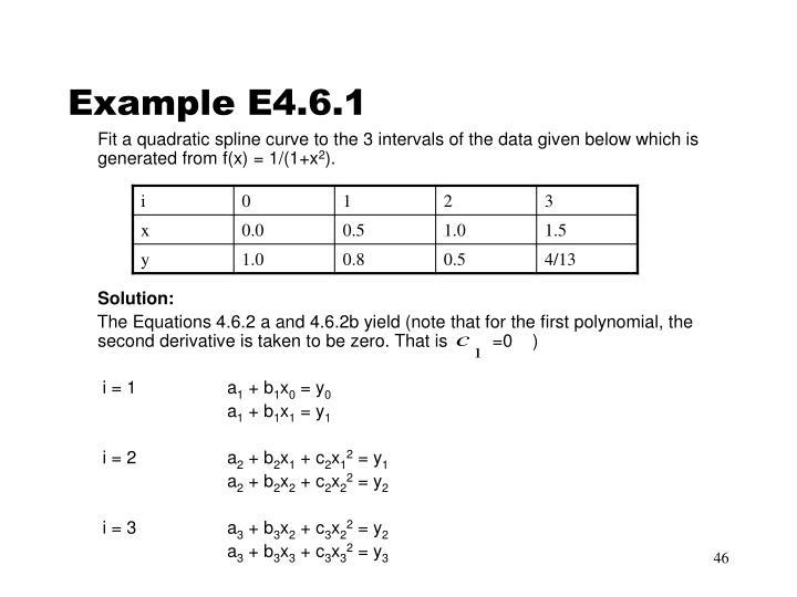 Example E4.6.1