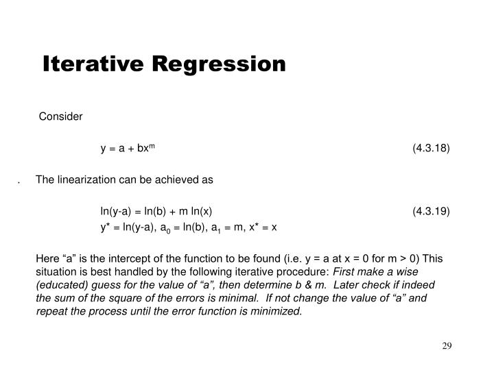 Iterative Regression