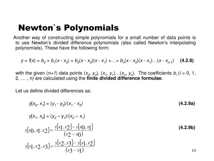 Newton`s Polynomials