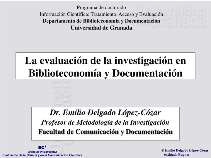 Programa de doctorado