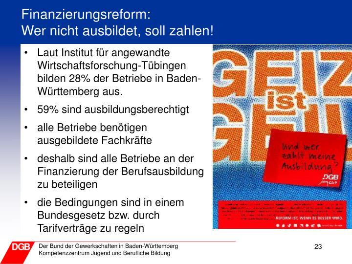 Finanzierungsreform: