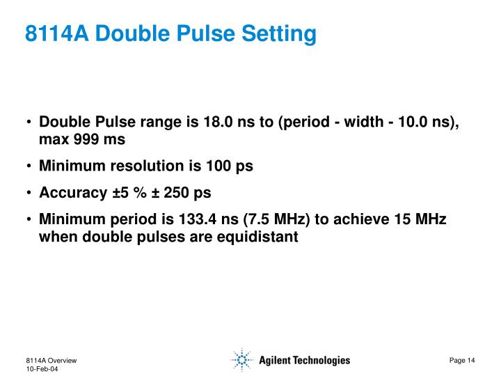 8114A Double Pulse Setting