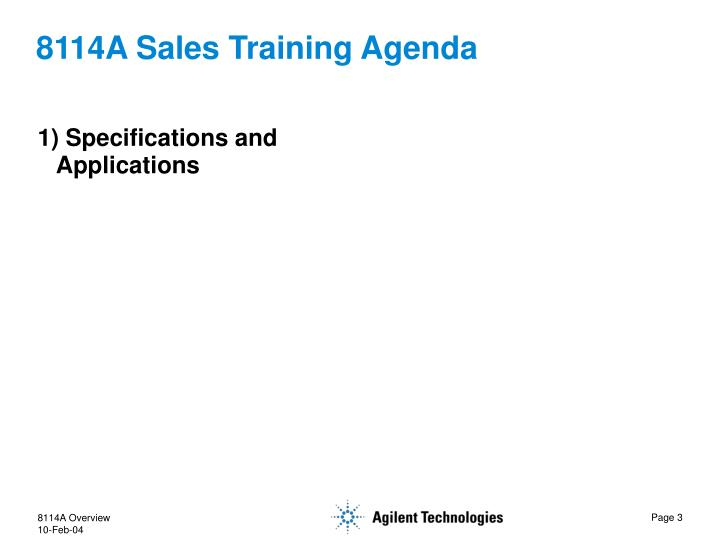 8114a sales training agenda