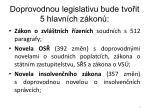 doprovodnou legislativu bude tvo it 5 hlavn ch z kon