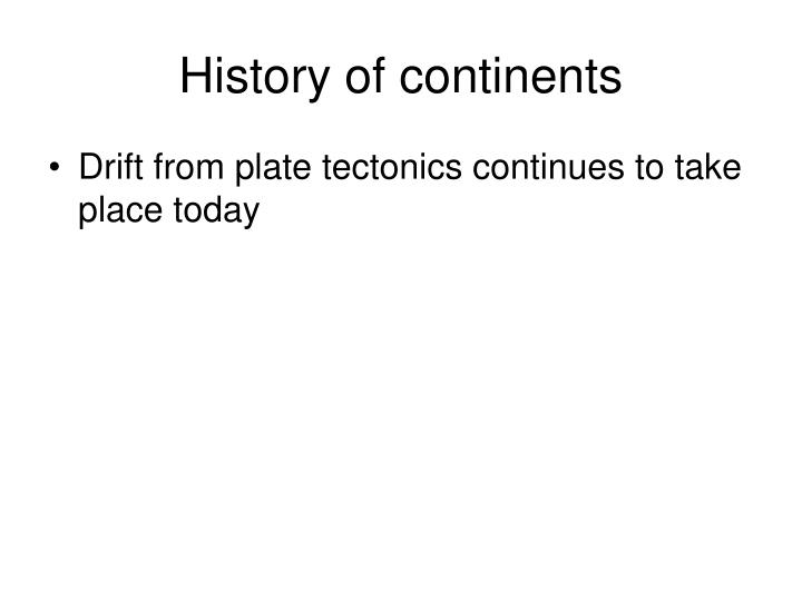 History of continents