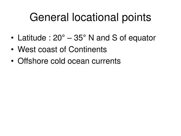 General locational points