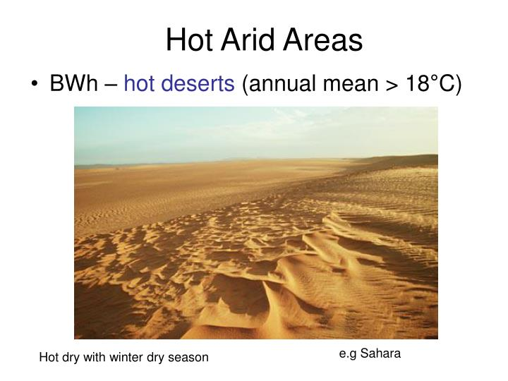 Hot Arid Areas