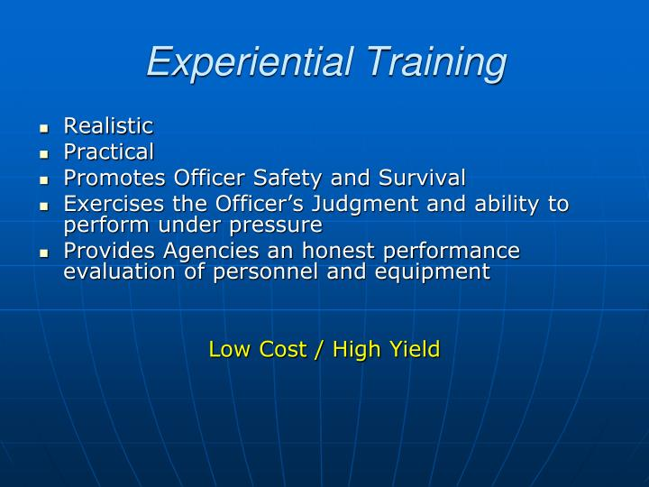 Experiential Training