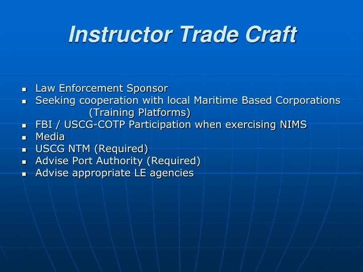 Instructor Trade Craft