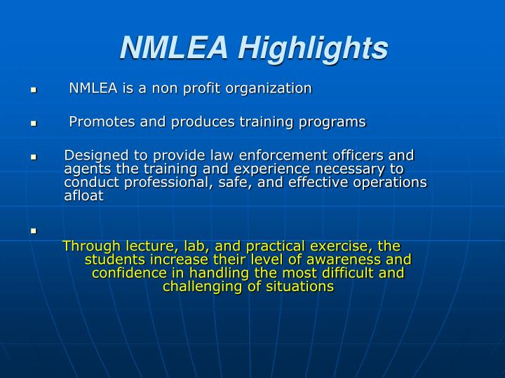 NMLEA is a non profit organization